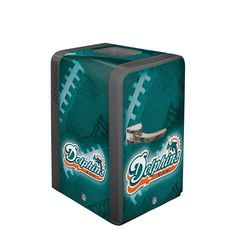 NFL Miami Dolphins Portable Party Refrigerator Product Features Runs on 12volt DC power or 110volt AC power – plugs into home outlets or car lighter 15.8 Quart volume can hold up to 24 each 12 0z. http://bestnflmerchandise.com/nfl-auto-accessories/nfl-miami-dolphins-portable-party-refrigerator/ #NFL #MiamiDolphins #PortablePartyRefrigerator #NFLMerchandise