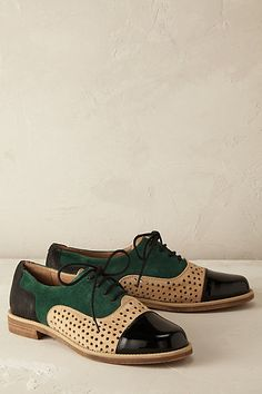 Anthropologie EU Emerald Dipped Brogues