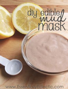"""DIY Edible """"Mud"""" Mask   www.EssentiallyEclectic.com   This tutorial shows how to make a homemade edible """"mud"""" mask using ingredients you probably already have in your pantry!"""