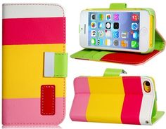 Funda divertida diseño cartera bicolor iPhone 5C