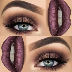 Perfect Fall and Thanksgiving Makeup Look #blueeyes #makeup