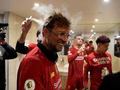 Dressing room photos: Champions celebrate Premier League glory Liverpool Premier League, Liverpool Football Club, Room Photo, Liverpool Fc Wallpaper, Fresh Image, British Boys, Champions, One Team, Fangirl