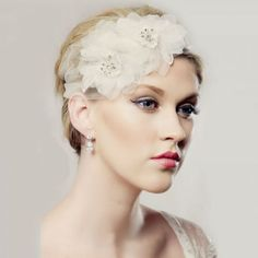 ROSIE.5698 soft tulle and floral bridal headband $105.90