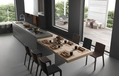 Italian furniture maker Modulnova Design has entered the Australian market after establishing a reputation in Europe for ultramodern kitchen design. Kitchen Room Design, Modern Kitchen Design, Home Decor Kitchen, Kitchen Furniture, Kitchen Interior, New Kitchen, Home Kitchens, Modern Kitchens, Kitchen Island Table