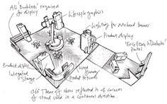 Exhibition design sketch