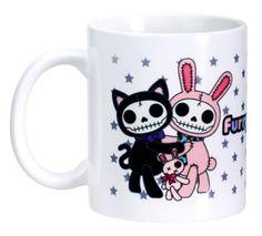 Furry Bones Skull Bun Bun Bunny and Mao Mao Cat Tea/Coffee Mug * For more information, visit now : Cat mug