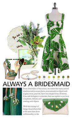 """#alwaysabridesmaid"" by jennifer ❤ liked on Polyvore featuring Kate Spade, Polaroid, Tiffany & Co., Charlotte Olympia, Mikimoto and alwaysabridesmaid"