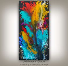 48 Original Large OIL PAINTING Abstract by ContemporaryArtDaily, $250.00