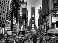 black and white photos of NYC | Times square New york city black and white photography