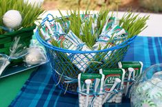 Great guest favor - tees and tic tacs. Hole In One - Golf Themed Party