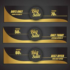 Sales promotion banner sets on black yellow background Free vector Star Wars Wallpaper, Sale Promotion, Backgrounds Free, Yellow Background, Black N Yellow, Vector Free, Banner, Template, Banner Stands