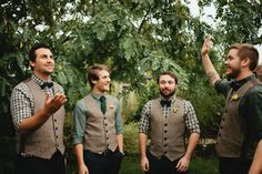 rustic wedding groom attire | ... emerald green table linen makes it perfect for a rustic wedding theme