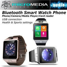 Bluetooth Smart Watch Phone Call/Answer Camera Play Music Video Sports Health #MicroMedia