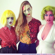 Lichtenstein, Picasso, and Warhol... art history Halloween!!!!