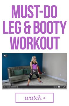 Firm up your legs and booty with this workout!