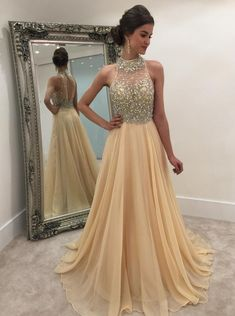 Long Prom Dresses Modest Prom DressesSparkle Prom Dresses Backless Prom Dresses Charming Prom Dresses Popular Prom Dresses from Beautiful bride Long Prom Gowns, Long Evening Gowns, Backless Prom Dresses, A Line Prom Dresses, Modest Dresses, Dance Dresses, Elegant Prom Dresses, Formal Dresses, Beaded Prom Dress