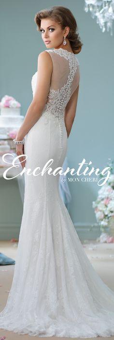 Enchanting by Mon Cheri Spring 2016 ~Style No. 116125 #laceweddingdress
