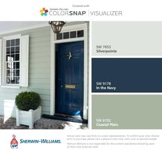 Sherwin Williams Navy Blue App Paint Color App Home Paint Color Matching App Pai. - First home - Sherwin Williams Navy Blue App Paint Color App Home Paint Color Matching App Paint Color App 2 – - House Design, House, Paint Colors For Home, Matching Paint Colors, House Entry Doors, House Exterior, Green Siding, Outside Paint, House Paint Exterior