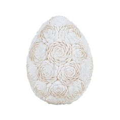 Add a touch of style to your master suite end table or entryway console with this artful decor, crafted from natural shells and showcasing a floral design...