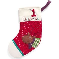 My stocking.We're sure this mini Santa will be treasured for years to come. My First Christmas, Christmas Toys, Christmas 2014, Mini Stockings, Christmas Stockings, Santa Stocking, Mamas And Papas, Treats, Touch