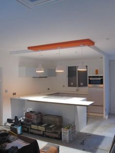 Faux plafond de plâtre pour la décoration de cuisine … | fauxplafond ...