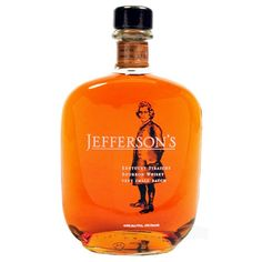 Jeffersons Very Small Batch Straight Bourbon Whiskey Best Bourbon Brands, Best Bourbon Whiskey, Whiskey Label, Bulleit Bourbon, Whisky, Bourbon Kentucky, Bourbon Drinks, Single Barrel Bourbon, Packaging