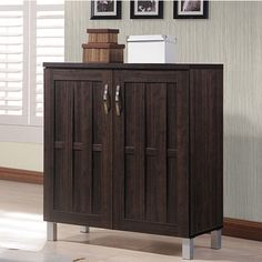 Excel Modern and Contemporary Dark Brown Sideboard Storage Cabinet - Overstock Shopping - Big Discounts on Baxton Studio Cabinets