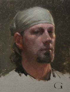 Self-portrait, 12x9, oil (alla prima study)
