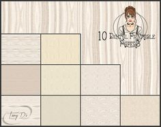 8.5 x 11 Printable Digital Papers TOP05 by TanyDiPhotoOverlays