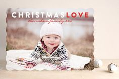 Christmas Love Holiday Photo Cards by Snow and Ivy at minted.com