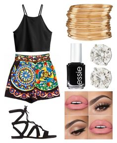 """Dolce&Gabbana"" by emmmalaw ❤ liked on Polyvore featuring Dolce&Gabbana, H&M, Gianvito Rossi and Essie"