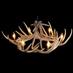 Classical faux antler chandelier
