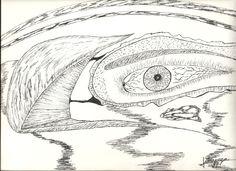 Dibujado a lapiz y rotulador 23x32 cm.