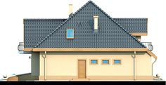 Elewacja DN Magnolia CE Beautiful Small Homes, Bungalow House Plans, Micro House, Home Fashion, Magnolia, Building A House, Villa, 1, House Design