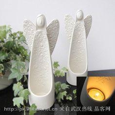 Ceramic Angel candle holder