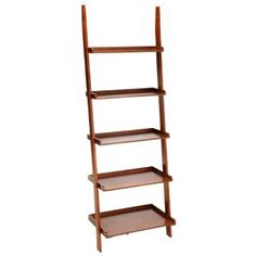 Ladder Bookcase Cherry - Convenience Concepts