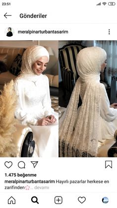 There are different rumors about the annals of the wedding dress; tesettür First Narration; Muslimah Wedding Dress, Muslim Wedding Dresses, White Wedding Dresses, Bridal Wedding Dresses, Dress Muslimah, Hijab Bride, Muslim Brides, Wedding Hijab, Muslim Couples