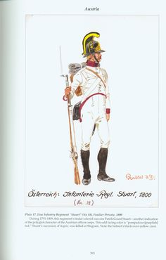 "Austria: Plate 17. Line Infantry Regiment ""Stuart"" (No. 18), Fusilier Private, 1800"