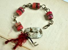 Safe Passage from Rustic Wrappings by Kerry Bogert, beads by Melissa Rediger