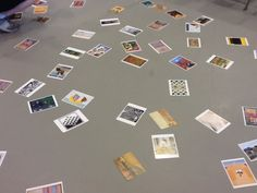Scatter postcards one the floor and ask students to chose one. Have them find a partner whose postcard might be in the same gallery as them. Great way to open conversations about art!