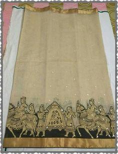 Pure kota saree with pallaki border Order what'sapp 919573737490 Kota Silk Saree, Kota Sarees, Banarasi Sarees, Silk Lehenga, Latest Silk Sarees, Latest Designer Sarees, Saree Blouse Designs, Blouse Patterns, Kerala Traditional Saree