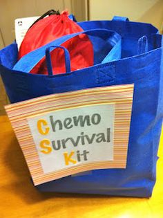 Make Chemo Therapy Survival Kits and donate them to a local cancer center. Include books or magazines, hard candy, plastic utensils, a pretty scarf or hat, pillow or anything else you think would help.