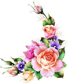 Frame Floral, Flower Frame, Rose Tattoos, Flower Tattoos, Beautiful Roses, Beautiful Flowers, Flower Phone Wallpaper, Decoupage Vintage, Floral Border