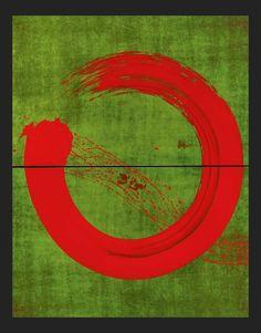 Enso on green (Fabienne Verdier)