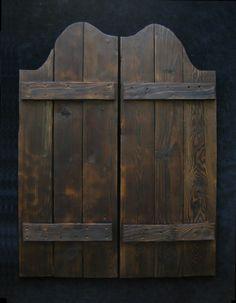 Old West Saloon Doors Distressed Western Swinging by IronAnarchy
