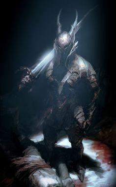 Black Knight -Dark Souls Fan Art-, Toraji . on ArtStation at https://www.artstation.com/artwork/B2zRA