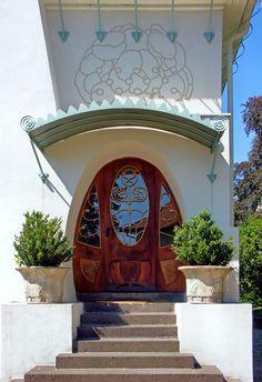 Jugendstil Entrance at the Mathildenhoehe; Darmstadt, Germany