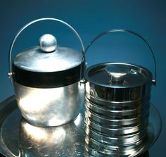 Cool, vintage aluminum ice buckets - Southern Vintage Table