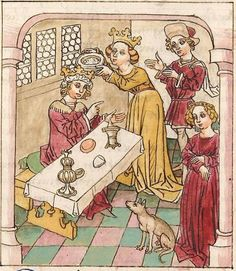 Antonius <von Pforr> Buch der Beispiele der alten Weisen — Oberschwaben, um 1475 Cod. Pal. germ. 466 Folio 222v