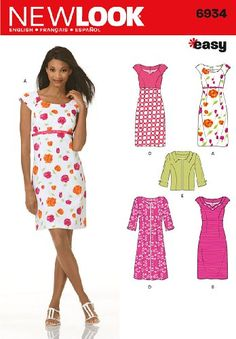 New Look Sewing Pattern 6934 Misses Dresses *own it*